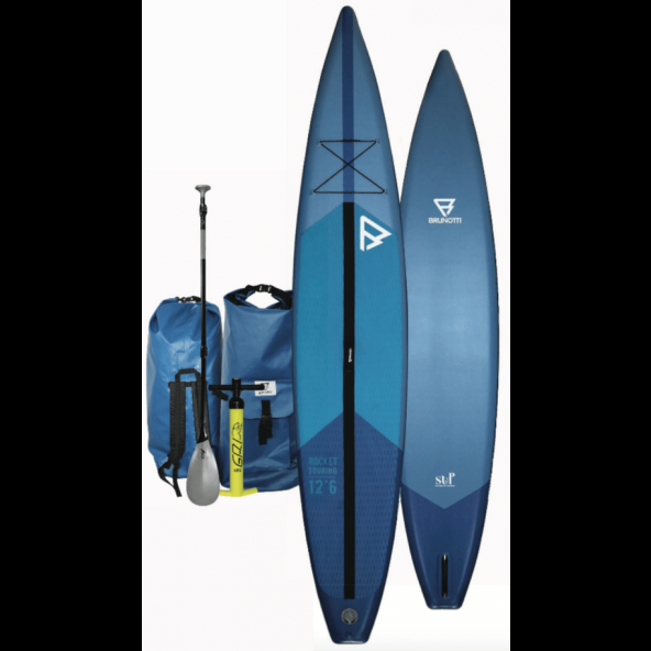 Brunotti Rocket Touring Racing Blue 12'6 oppustelig Touring SUP AIR incl Paddle